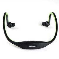 Wholesale EMS FREE Wireless Sport MP3 Player Music Player Wrap Around Headphones Headset with TF card slot