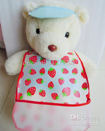 Wholesale Infant EVA bibs with pocket Disposable Waterproof Burp cloths Baby bibs Cartoon bibs
