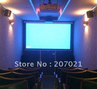 Wholesale ghja48 inch16 D silver screen Home Theater motorized projector screen Electric projectio