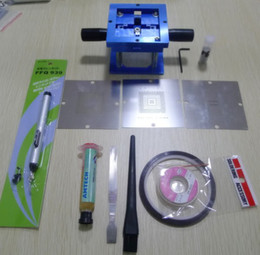 BGA Reballing Stencil Station + 3 PS3 90mm Stencils+10g paste + 6 pcs AS Kits