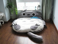 Wholesale 2012 Cute Totoro Double Bed Sofa Sleeping Bag CM Mattress Large Gift