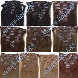 Wholesale 20 Real Clip in Brazilian Remy Human Hair Extensions Colors for Choose