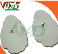 Parts tens unit electrodes - 20pcs Top quality Non woven plam shape tens electrode pads tens ems unit