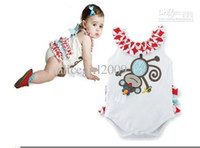 Boy Summer Down Wholesale - -baby girls cuts cartoon romper one-piece romper baby clothes 12pcs lot