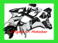 Wholesale K1816 white black bodywork for KAWASAKI Ninja ZX R ZX R ZX10R full fairing kit