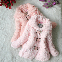 2-6Year kids winter jackets - Winter Children clothing Y baby coats outwear Korean buttercup flower Warm girls coat kids jacket