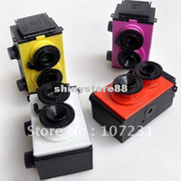 Wholesale New DIY Lomo Recesky TLR mm GakkenFlex Clone Film Camera Twin Lens Reflex Retro Camera