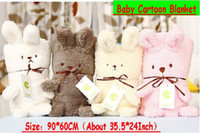 Wholesale EMS Free Baby Animal Blanket Boys Cartoon Blankets Baby Rabbit Quilts Boys Infant Blankets Inch
