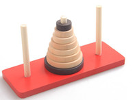 Wholesale Tower of Hanoi wooden children educational toys adult puzzle combinations clearance toys