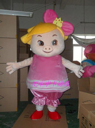Wholesale Cartoon doll clothing xia female pig costume Halloween Outfit Fancy Dress Suit mascot