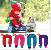 hanging balls - Children baby scarf twist lines monochrome hanging ball scarf dandys
