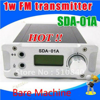 Wholesale Black amp Silver SDA A W FM PLL Radio Broadcast Transmitter PCcontrol MHZ Bare Machine