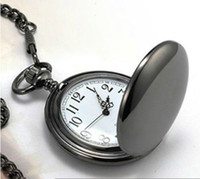 Wholesale High Quality X47MM New Arrival Big Size Black Polish Pocket Watch