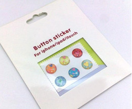 (50sets + envío libre) etiqueta engomada casera del botón de la historieta para el tacto 4 de iPod del iphone 5 4 4S 3G desde envío libre del iphone de la manzana fabricantes
