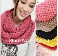 Wholesale Knitted Hood Neck Circle Cowl Wool Scarf Shawl Wrap Loop Winter Warmer Lady