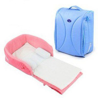Wholesale New born baby safety Portable folding bed cot playpens bed for months