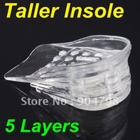 Wholesale New Layers Taller Insole Silicone Gel Inserts Lift Shoe Pads Height Increase
