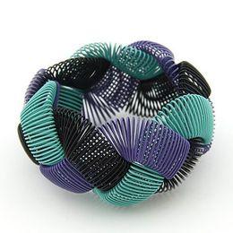 Spring bracelet joker spiral mixed color elastic bracelet bazinga style