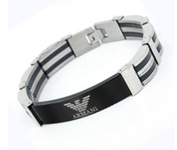 Wholesale Trend fashion men s L titanium stainless steel bangle wristband bracelet mix style high quality hot sale