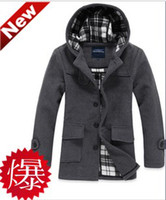 Wholesale New arrival fashion boys Metersbonwe length wool coat top Winter Mens cashmere windbreaker Mens coat