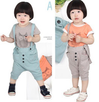 Boy 0-3 Months 2XS Wholesale NEW (2 COLORS ) 2012 Baby Sumer suit Baby Clothing set hot designs