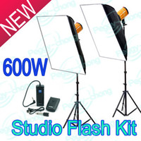 Wholesale 600WS W Pro Professional Lighting Studio Strobe Photo Flash Light Softbox Kit