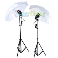Wholesale SY8000 Photo Studio Strobe AC Slave Flash Bulb Light Socket Stand Umbrella Kit