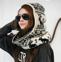 Wholesale OMHWJ66 autumn and winter fashion personality thermal onta pattern muffler scarf knitted hat scarf