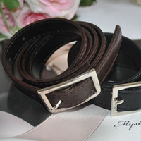 Wholesale A124 Black coffee Multicolor choice all match thin section strap pin buckle belt g