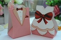 Wholesale Hot Sell Western Dress Happiness Wedding Favor Boxes gift box Personality Creative Candy Box