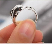 Wholesale Lovely Romantic Gold Plated Cute Dolphin Ring for Lady Girl