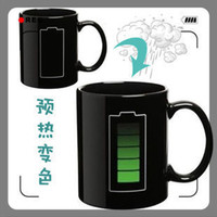 ECO Friendly battery icon - New Battery Color Changing Mug With Energy Saving Icon Heat Sensitive Temperature Coffee Tea Cup