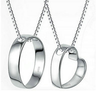 Parfait le couple pendentif coeur minimaliste phase-Indian couple colliers véritables modèles d'explosion