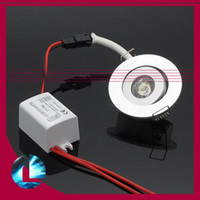 Wholesale 1W LED Cool White Warm White Cabinet Ceiling Light Downlight Spot Lamp Bulb V with