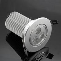 Wholesale 9w Ceiling Light Energy saving High Power leds w V downlight Warm White cool white LED