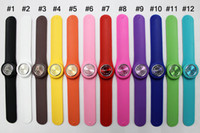 Wholesale Unisex Fashion Silicone Snap Slap Sport Watch Watches Multicolor Jelly Watch For Adult