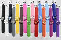Wholesale 500pcs Men Women s Fashion Silicone Snap Slap Sport Watch Watches Colour face Without Logo