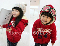 Wholesale FUR Boys Girls Hoody Sweater Glasses Costume Hoodie cm RED amp GREY Coat