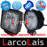 Wholesale 2pcs quot inch W LED Working Light Spot Flood Lamp Motorcycle Tractor Truck Trailer SUV JEEP Offroad