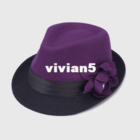 Wholesale hot hats capsHat female winter days Korean version of the retro British style flange h