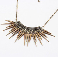 Women's beaded spikes - Min order is mix order C257 Fashion Personality vintage Spike collor necklace jewelry wholesal