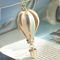 air fre - Min order is mix order N275 Fashion vintage Multicolor Hot Air Balloon Necklaces Fre