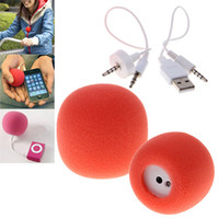 Wholesale iPump mm Mini USB Portable Speaker for iPhone4S G GS i CellPhone MP3 amp MP4 ect red
