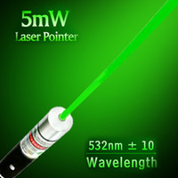 Wholesale 5MW mW High Power NM Green Laser beam Pointer point Pen for PPT MEETING TEACHER MANAGER