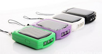 Wholesale DHL Mini solar charger keychain charger with LED light for mobile phone iphone