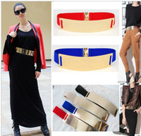 Wholesale YH Metal gold mirror surface waist belt section elastic girdle stretch female