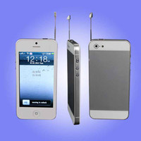 Wholesale Cheap Mobile Phone With Headphones I5 inch TV WIFI Dual Sim Quad Band by DHL