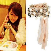 Wholesale Stretched Chiffon acrylic dimond style Fairy BRACELET BANGLE Bracelets Tog grade materials bracelet