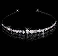 best headbands hair - Best Selling Sparking One Row Rhinestone Clear Crystal Tiara Headband for Wedding Party Hair Accessories Bridal Jewelry