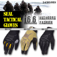 Wholesale UnisexTactical M pact outdoor Full fingers gloves Riding Fighting Bicycle Racing Glove